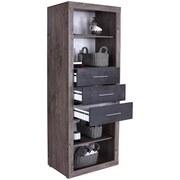Regál Frame - farby dubu/biela, Konvenčný, kompozitné drevo (80/200/42cm)