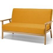 Sofa Gummi Holz Gelb/orange - Gelb, MODERN, Holz/Kunststoff (134/64/77cm)