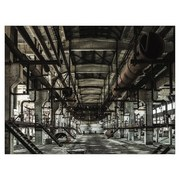 Keilrahmenbild Industrial - Naturfarben/Grau, MODERN, Holz/Kunststoff (84/116/2,4cm)
