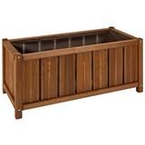 Pflanzentopf Primo - Braun, MODERN, Holz (36/75/35cm) - James Wood