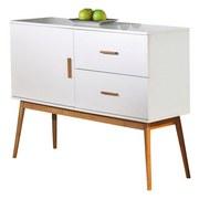 Kommode Melanie B. 115 cm Weiß - Naturfarben/Weiß, Basics, Holz/Holzwerkstoff (115/90/39cm)