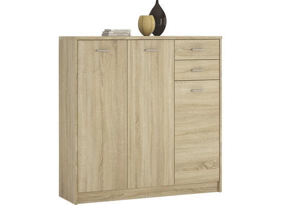 Komoda 4-you Yuk09 - dub sonoma, Moderný, kompozitné drevo (109.1/111.4/35.2cm)