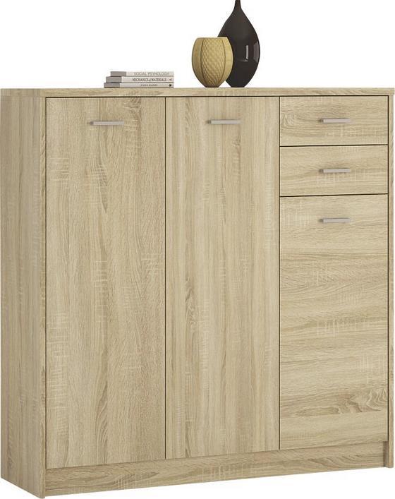 Komoda 4-you Yuk09 - Sonoma dub, Moderní, dřevěný materiál (109.1/111.4/35.2cm)