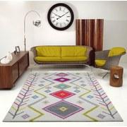 Webteppich Design: Gabbeh, 160/230 - Blau/Gelb, MODERN, Textil (160/230cm)