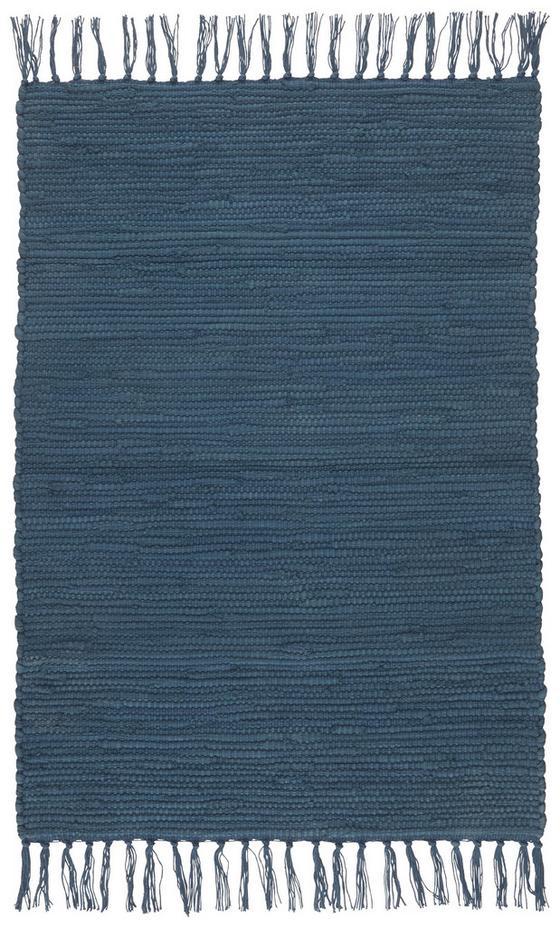Plátaný Koberec Julia - tmavomodrá, Romantický / Vidiecky, textil (70/230cm) - Mömax modern living