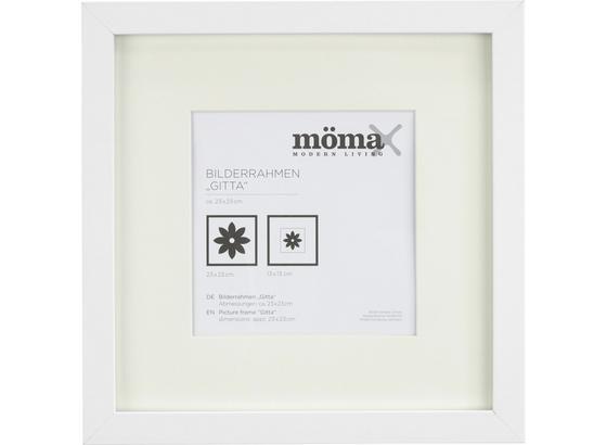 Rám Na Obrazy Gitta - bílá, Moderní, kompozitní dřevo/sklo (23/23/3,6cm) - Mömax modern living