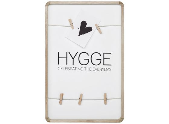 Dekorace Nástěnná Hygge I - bílá/přírodní barvy, dřevo/kompozitní dřevo (26/40cm)
