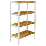 Regal Bambu - Weiß/Braun, MODERN, Holz/Holzwerkstoff (70/110/33cm)
