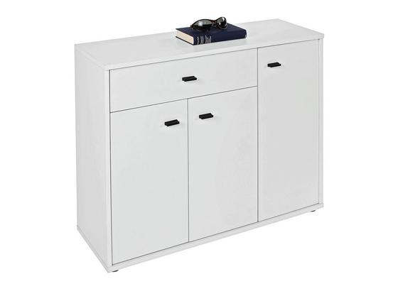Komoda Boni - bílá, Moderní, kompozitní dřevo (88/70/30cm)
