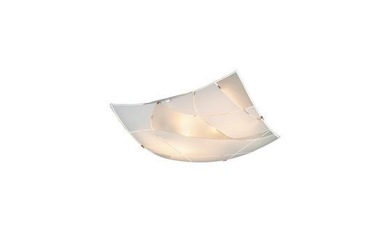 Deckenleuchte Davina - Weiß, ROMANTIK / LANDHAUS, Glas/Metall (30/30/6,5cm) - James Wood