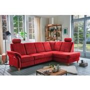 Wohnlandschaft in L-Form Bavello Rot - Eichefarben/Rot, KONVENTIONELL, Textil (274/186cm) - Livetastic