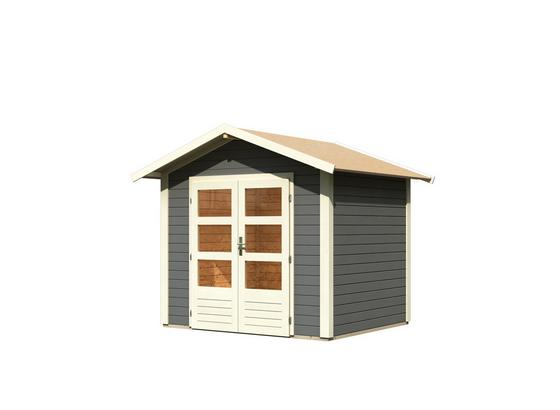 Gartenhaus Terragrau 244x230x204cm - Grau, MODERN, Holz (244/230/204cm) - Karibu