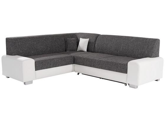 Sedací Souprava Miami - šedá/bílá, Basics, dřevo/textil (210/260cm)