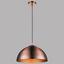 Hängeleuchte Max - Bronzefarben/Kupferfarben, MODERN, Textil/Metall (40/140cm)