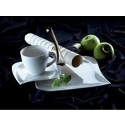 Kaffeeservice La Musica 18-Tlg. - Weiß, Basics, Glas (28/23/38cm)