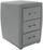 Nachtkästchen Allegra Hellgrau (USB) - Hellgrau/Schwarz, KONVENTIONELL, Holzwerkstoff/Kunststoff (52/66/46cm)