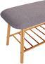 Sitzbank Hagen 90cm Grau/bambus - Naturfarben/Grau, MODERN, Holz/Textil (90/44/34cm) - Ombra
