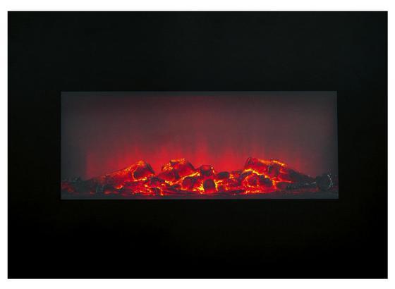 Elektrokamin Memphis 1800w Schwarz 3 Heizstufen - Schwarz, MODERN, Glas/Metall (66/46/13cm)