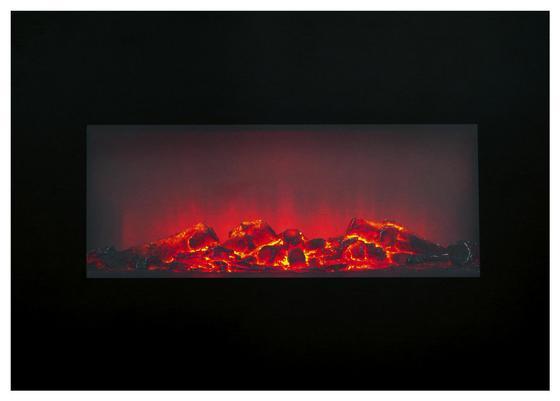 Elektrokamin Memphis - Schwarz, MODERN, Glas/Metall (66/46/13cm)