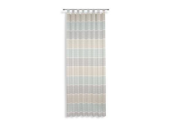 Kombivorhang Anca - Türkis/Blau, MODERN, Textil (140/255cm) - Luca Bessoni