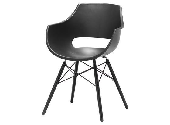 Stuhl Rockville B: 60 cm Grau - Schwarz/Grau, MODERN, Holz/Kunststoff (60/85/54cm)