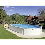 Schwimmbecken Steely Supreme - Weiß, Basics, Kunststoff (920/460/130cm)