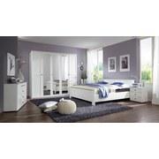 Bett Höhenverstellbar 100x200 Chalet, Weiß - Weiß, KONVENTIONELL, Holzwerkstoff (100/200cm) - Cantus