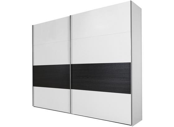 Schwebetürenschrank Bert B:225cm Weiß/ Eiche Dekor - Eichefarben/Weiß, KONVENTIONELL, Holz/Holzwerkstoff (225/210/65cm)