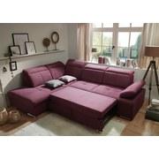 Ecksofa mit Schlaffunktion Luisa, Webstoff - Silberfarben/Rot, MODERN, Textil (217/275cm) - Carryhome