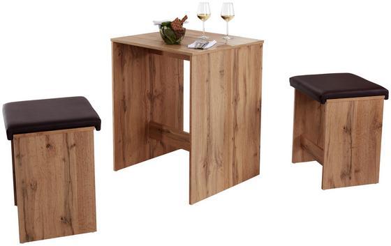 Tischgruppe Zd 12 Jakob - Eichefarben, KONVENTIONELL, Holzwerkstoff (68,8/85/60cm)