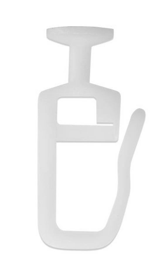 Függönycsúszka Műanyag - Fehér, konvencionális, Műanyag (1/2.5cm) - Ombra