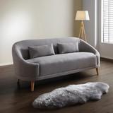 Pohovka Jannike - šedá, Moderní, dřevo/textil (207/84/80cm) - Modern Living