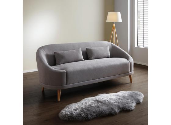 Pohovka Jannike - sivá, Moderný, drevo/textil (207/84/80cm) - Modern Living