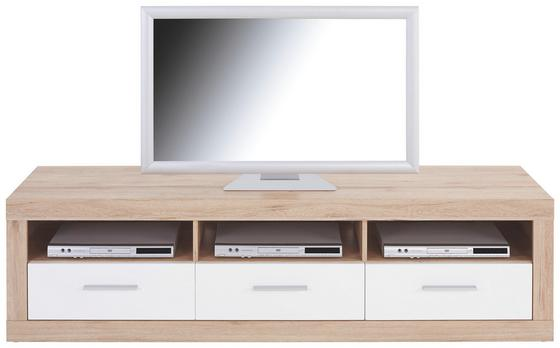 Tv-elem Malta - Tölgyfa/Fehér, modern, Fa (185/50/42cm)