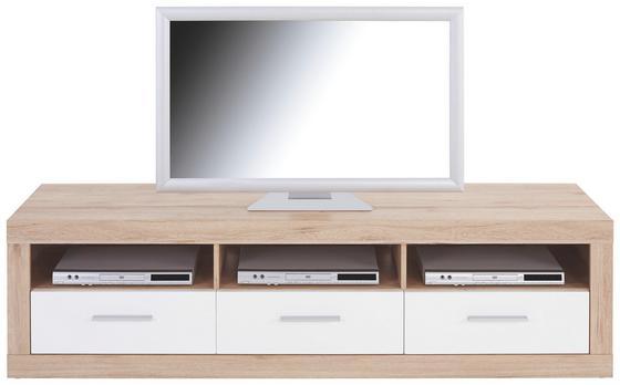 TV-Element Malta - Eichefarben/Schwarz, MODERN, Holz (185/50/42cm)