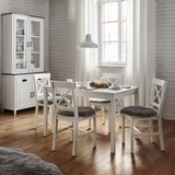 Stolová Súprava Amira - biela, Moderný, drevený materiál/drevo (75/73cm) - Modern Living