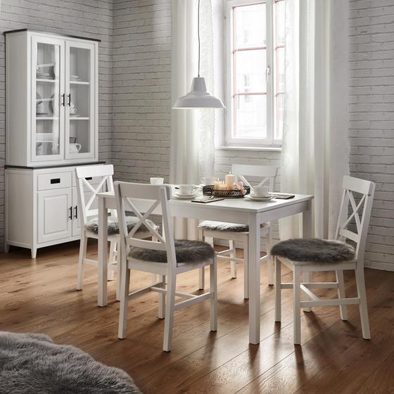 Stolová Súprava Amira - biela, Moderný, drevo (75/73cm) - Modern Living
