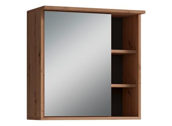 Spiegelschrank Wanda B: 30 cm Eichefarben - Eichefarben, Natur, Glas/Holzwerkstoff (60/61/28cm) - Livetastic