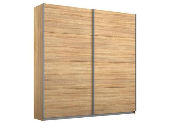 Schwebetürenschrank 181cm Belluno, Sonoma Eiche Dekor - Sonoma Eiche, MODERN, Holzwerkstoff (181/210/62cm)