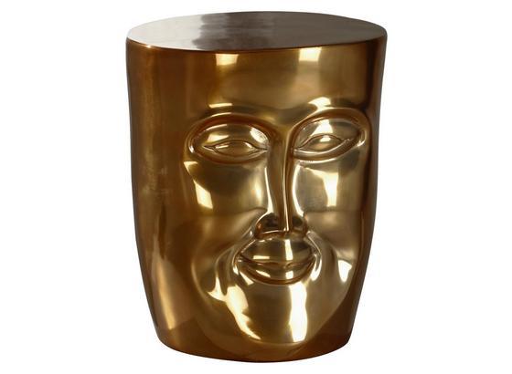 Beistelltisch mit Gesicht Face Goldfarben - Goldfarben, LIFESTYLE, Metall (32,5/39/35cm) - Livetastic