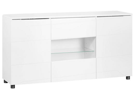 Sideboard Newport B:115cm Weiß Hochglanz - Weiß, MODERN, Holzwerkstoff (155/83.5/41cm)