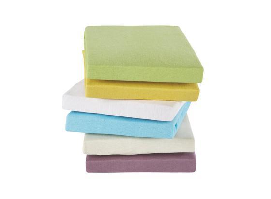 Spannleintuch Isadora 100x200 cm - Gelb/Lila, KONVENTIONELL, Textil (100/200cm) - Ombra