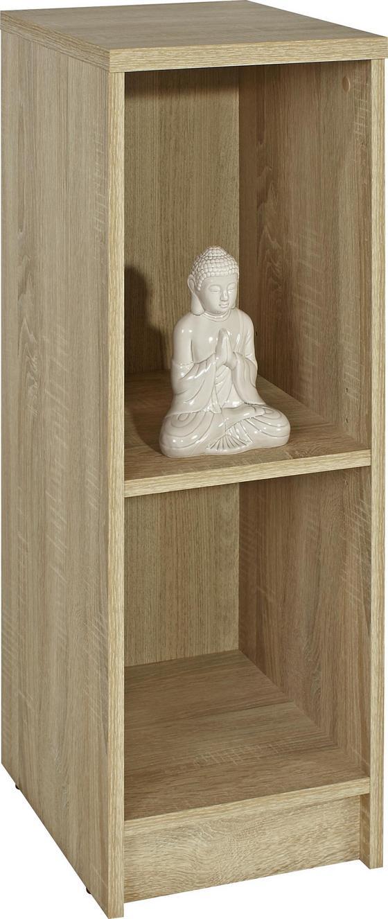 Regál 4-you Yur04 - Sonoma dub, Moderní, kompozitní dřevo (30/85,5/35,2cm)