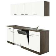 Küchenblock Economy 150 cm Weiß - Eichefarben/Weiß, KONVENTIONELL, Holzwerkstoff (195/200/55cm) - MID.YOU