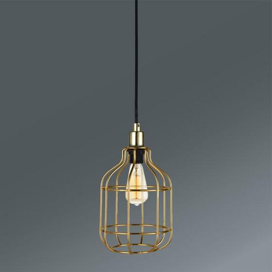 Závesná Lampa Skeletton - farby zlata, Štýlový, kov (14/14/110cm) - Mömax modern living