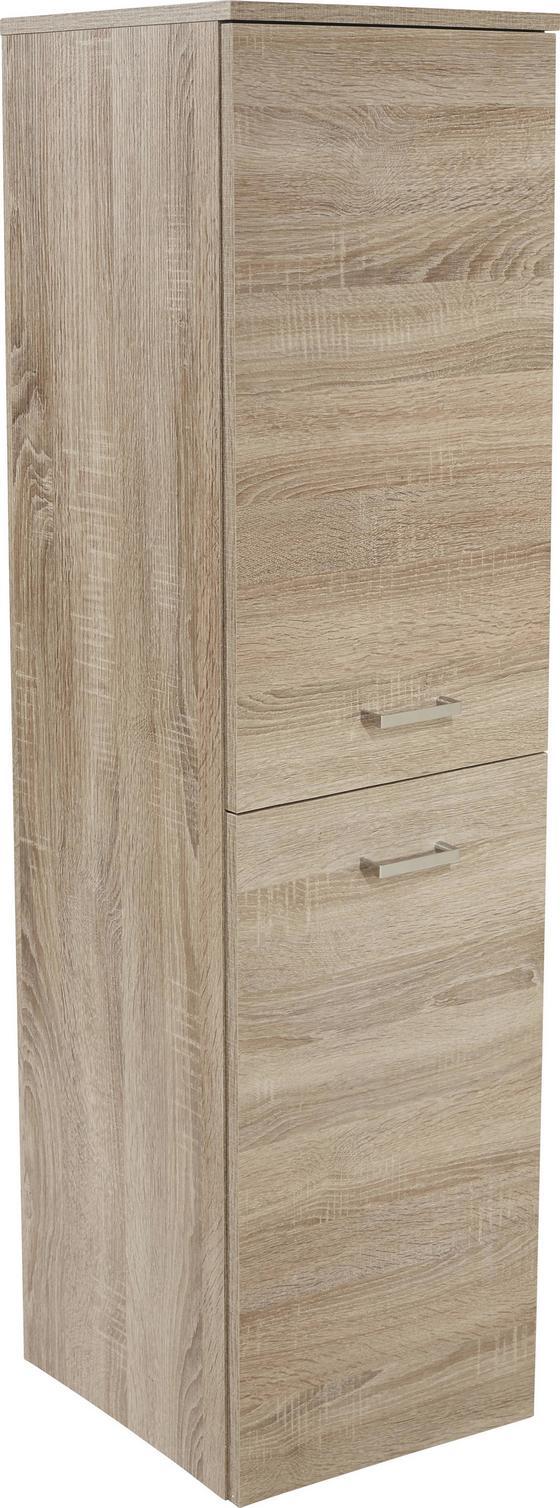 Midi Skrinka Bergamo - farby dubu, Konvenčný, kompozitné drevo (40/142,8/33cm)