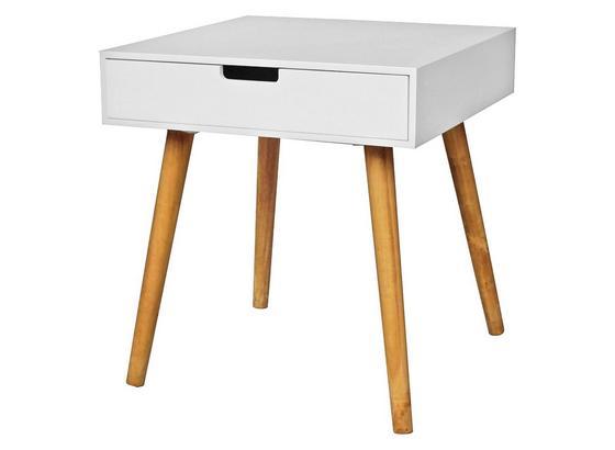Odkládací Stolek Alina - bílá/barvy dubu, Moderní, kompozitní dřevo (45/49/45cm)