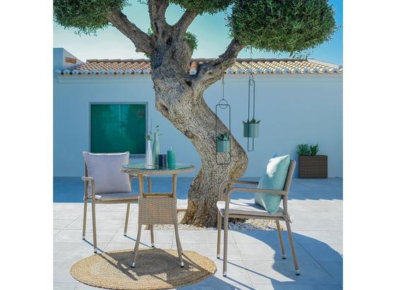 Záhradná Stolička Lissabon - hnedá/béžová, umelá hmota/kov (60/56/83cm) - Modern Living