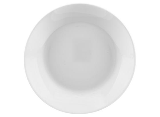 Desszertes Tányér Olivia - Fehér, konvencionális, Üveg (18cm)