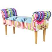 Sitzbank Patchwork 102 cm - Multicolor/Naturfarben, MODERN, Textil (102/51/31cm)